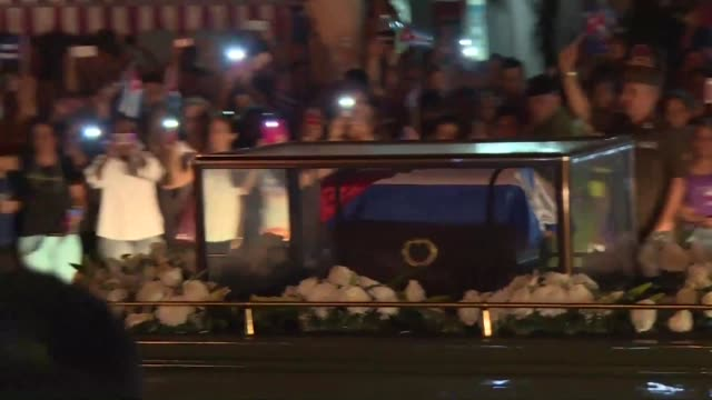 the ashes of former cuban leader fidel castro arrive in the city of cienfuegos - decorative urn stock videos and b-roll footage