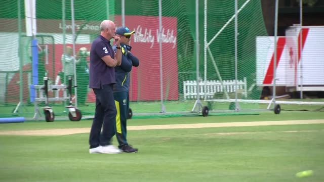 the ashes australia team training at lord's ahead of second test england london lord's cricket ground ext various shots of australian cricket support... - test cricket stock videos & royalty-free footage