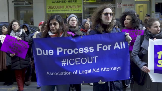 The Association of Legal Aid Attorneys organized a rally and march at Foley Square in downtown Manhattan For months Legal Aid Attorneys Public...