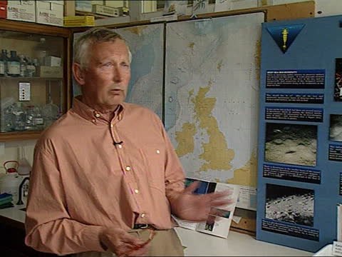 the atlantic frontier:; scotland: orkney islands: intvw dr ben wilson sot - effects on ecosystems not been assessed scientists using fish to detect... - ecosystem stock videos & royalty-free footage
