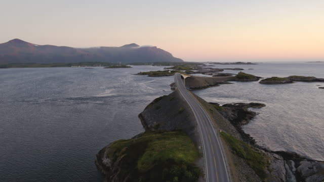 the atlantic ocean road, møre og romsdal, norway - atlantic ocean stock videos & royalty-free footage
