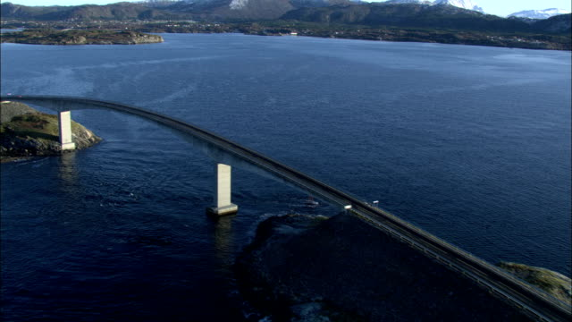 the atlantic road crosses the norwegian sea available in hd. - norwegian sea stock videos & royalty-free footage