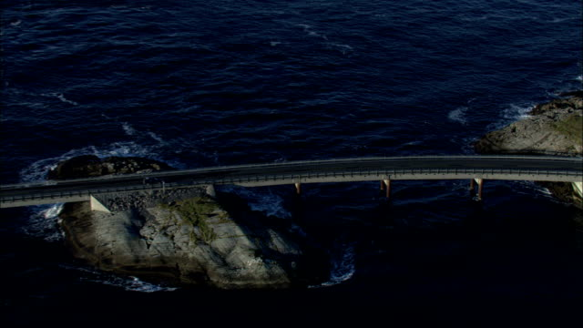 the atlantic road runs across the norwegian sea available in hd. - norwegian sea stock videos & royalty-free footage