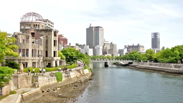 vidéos et rushes de dôme de la bombe atomique d'hiroshima - hiroshima prefecture