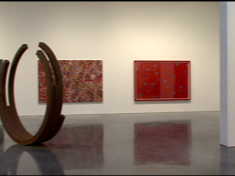 The Auction Artwork at the Bono and Damien Hirst Paint the Town Red For Aids In Africa The Auction at Sotheby's in New York New York on February 14...