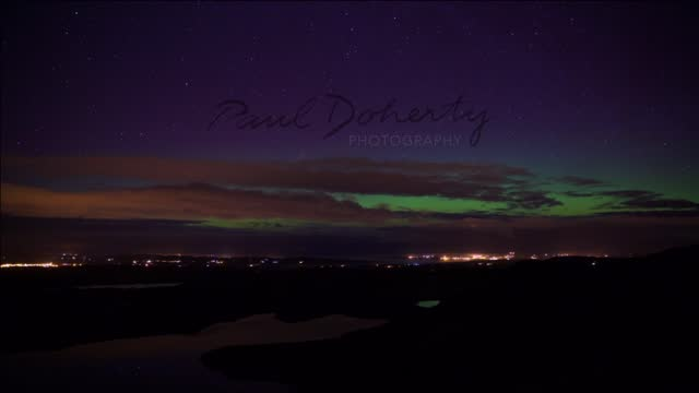 the aurora borealis, or northern lights, were visible across parts of the uk and ireland overnight on sunday, march 6. the phenomenon was best seen... - ulster province stock videos & royalty-free footage