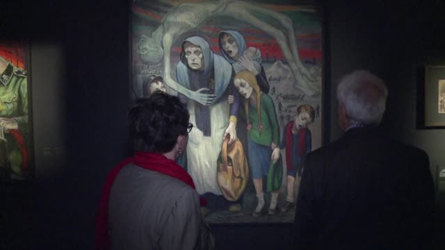 the auschwitz museum unveils its largest ever exhibition of drawings and paintings by david olere a suvivor of the world war ii nazi german death... - pompe funebri video stock e b–roll