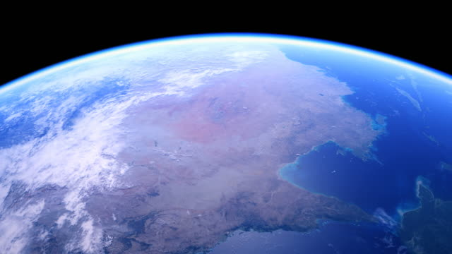 vídeos de stock, filmes e b-roll de the australian continent from space 4k - locais geográficos