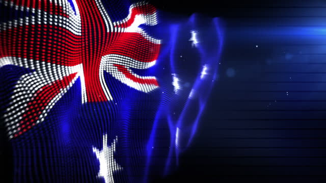 the australian flag - background loop (full hd) - full hd format stock videos & royalty-free footage