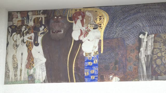 stockvideo's en b-roll-footage met the austrian commission in charge of returning art pieces should announce on friday its recommendations about gustav klimts beethovenfries - oostenrijkse cultuur