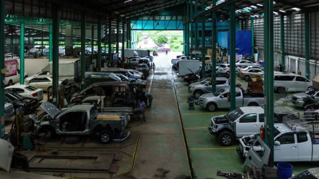 the automobile factory repair car - manual worker stock videos and b-roll footage