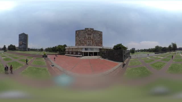 unam the autonomous university of mexico in 360 vr - museum stock videos & royalty-free footage