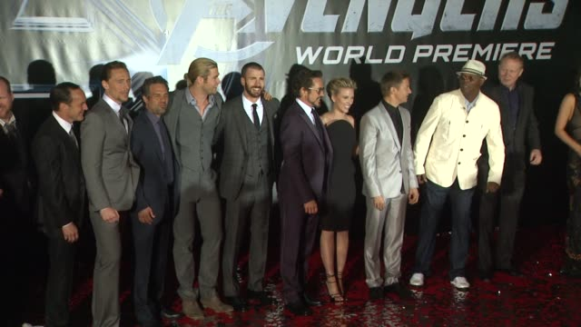 vídeos de stock, filmes e b-roll de the avengers world premiere, los angeles, ca, united states, 4/11/12 - estreia