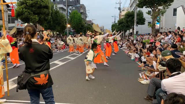 the awa dance festival, which originated and takes place during august 12-15, in tokushima city of shikoku island, is now widely practiced in many... - street name sign stock videos & royalty-free footage