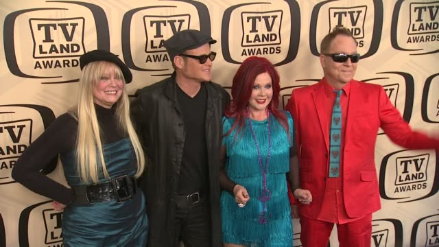 the b52's at tv land awards 10th anniversary arrivals at lexington avenue armory on april 14 2012 in new york ny - tv land awards stock videos and b-roll footage