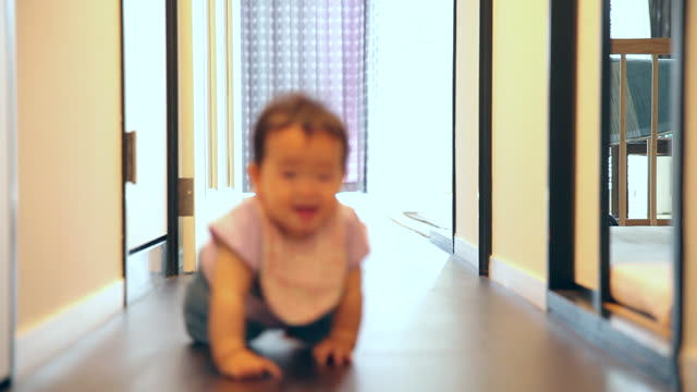 The baby who crawls