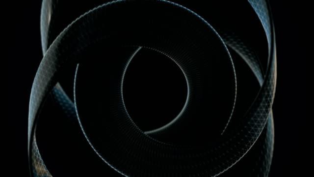 der hintergrund des sich bewegenden 3d-objekts - loopable stock video - bildschirmwand stock-videos und b-roll-filmmaterial