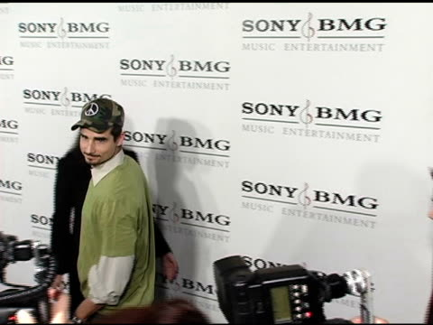 the backstreet boys at the sony / bmg grammy awards party at the roosevelt hotel in hollywood california on february 13 2005 - backstreet boys stock videos & royalty-free footage