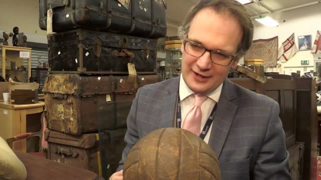 The ball from the legendary 1953 FA Cup final is to go up for auction in Derbyshire next month The brown leather ball from the famous 'Stanley...