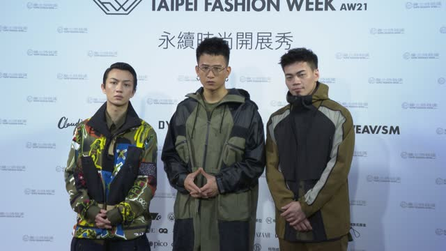 the band eggplantegg arrives at the taipei sustainable collections as a part of taipei fashion week aw21 on march 11, 2021 in taipei, taiwan. - taipei stock videos & royalty-free footage