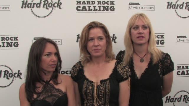 the bangles on their future plans at the hard rock calling at london - bangle stock videos & royalty-free footage
