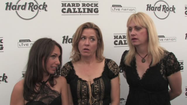 the bangles the cooler acts are the older actsgood they should keep going at the hard rock calling at london - bangle stock videos & royalty-free footage