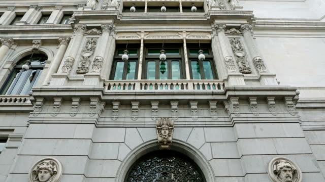 vídeos y material grabado en eventos de stock de el banco de españa-banco de españa en madrid - españa