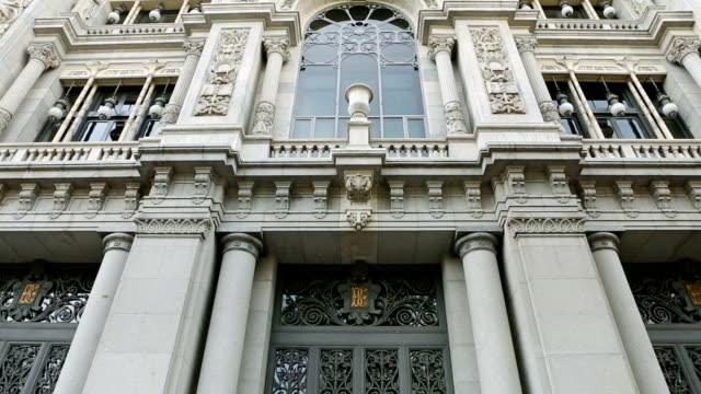 vídeos y material grabado en eventos de stock de el banco de españa-banco de españa en madrid - banco edificio financiero