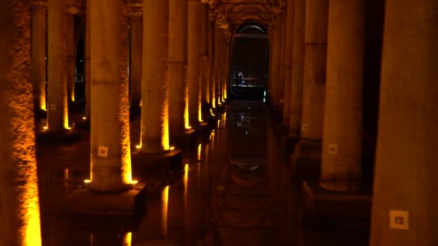 the basilica cistern - cisterna basilica - yerebatan sarnıcı - basilica stock videos & royalty-free footage