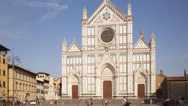 the basilica di santa croce, florence. - circa 13th century stock videos & royalty-free footage