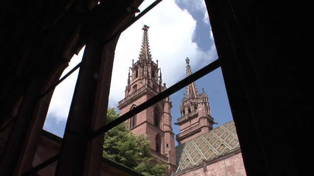 the basler münster - cattedrale video stock e b–roll