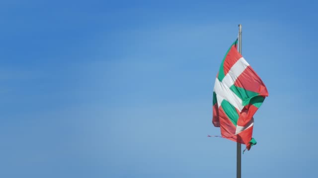 the basque country flag in slow motion - 1978 stock videos & royalty-free footage