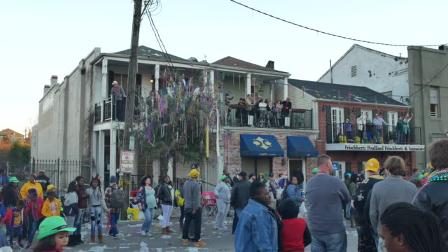 The Bat out of Hell Krewe of Thoth parade float passes on St Charles Street during Mardi Gras in New Orleans The Theme of the Thoth parade was Things...