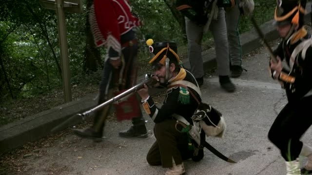 the battle of gerona on 19th september 1809 saw an imperial french division try to overrun a spanish and catalan garrison in the city the french... - neunzehntes jahrhundert stock-videos und b-roll-filmmaterial