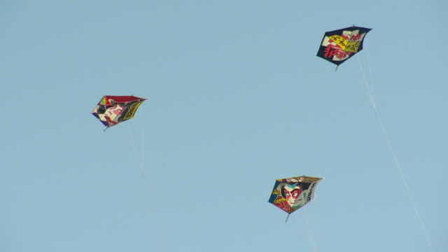 the battle of the giant kites, shirone, niigata, japan - kite toy stock videos and b-roll footage