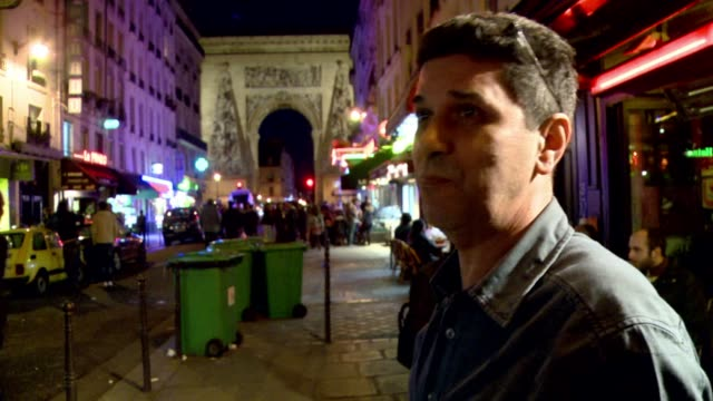 the battle raging on rue du faubourg saint denis a shabby paris street where hip bars are sprouting up like mushrooms is part of a wider war in the... - strategia di vendita video stock e b–roll