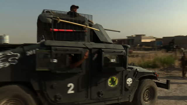 the battle to reclaim the city of mosul from islamic state has been strengthened by the arrival of elite troops the golden division one of the best... - military training stock videos & royalty-free footage