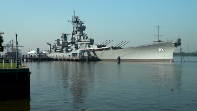 the battleship new jersey - us navy stock videos and b-roll footage