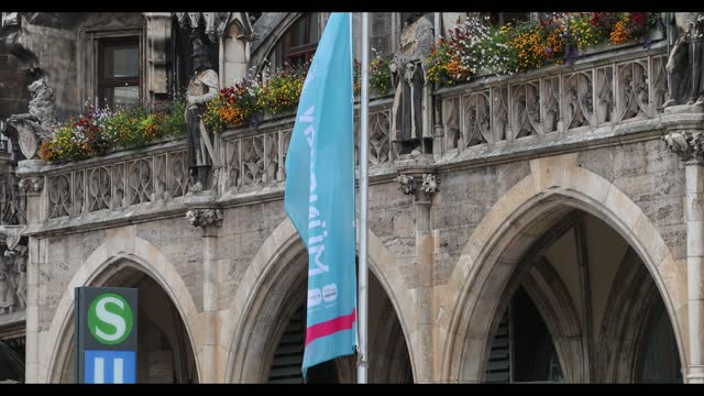 the bavarian capital munich on the matchday of the euro 2020 match germany hungary on june 23, 2021. the munich city council wanted to make the... - hungary stock videos & royalty-free footage