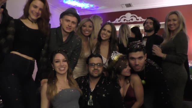 The Bay Cast wishing fans a happy new year at The Bay's New Years Eve Party in North Hollywood in Celebrity Sightings in Los Angeles