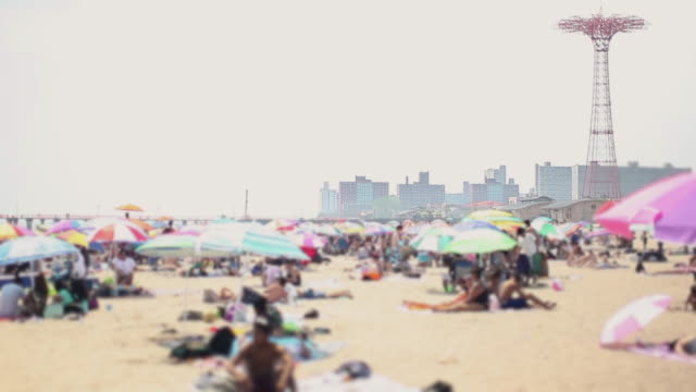the beach at coney island - summer heat stock videos & royalty-free footage