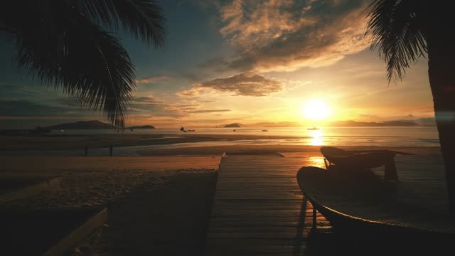 the beach at payam island, ranong thailand - swing stock videos and b-roll footage