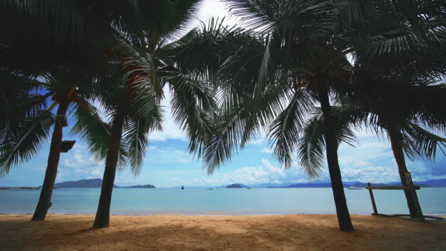 the beach at phuket thailand - shade stock videos & royalty-free footage