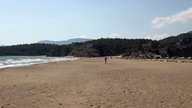 the beach, dalyan river, turkey - dalyan stock videos and b-roll footage