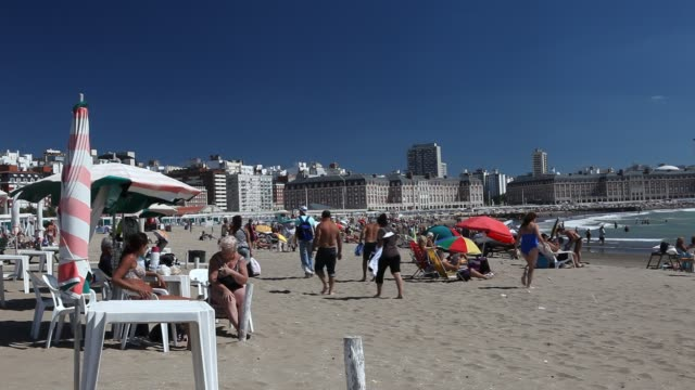 The beach of Mar del Plata in Argentina