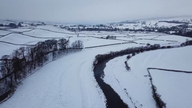 The Beast from the East cold snap which has sent temperatures plunging across much of Europe brings snow to the Yorkshire Dales in England