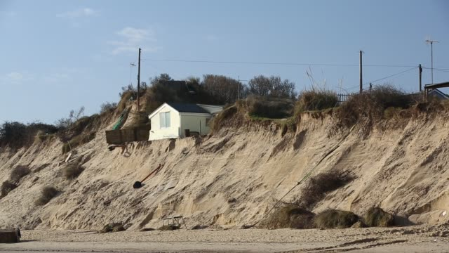 the beast from the east storm in march 2018 and another subsequent powerful storm caused a larger amount of erosion to the norfolk coastline,... - physical geography stock videos & royalty-free footage