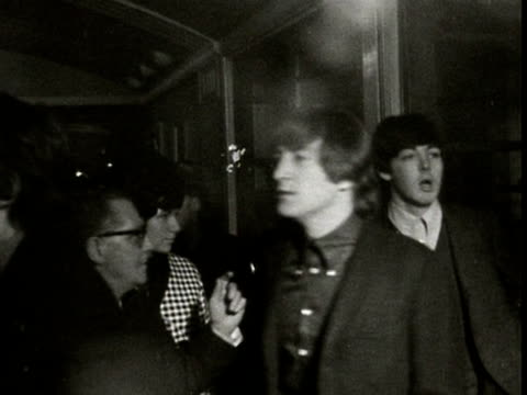 the beatles arrive at a press conference in plymouth while touring the uk 1962 - the beatles stock videos & royalty-free footage