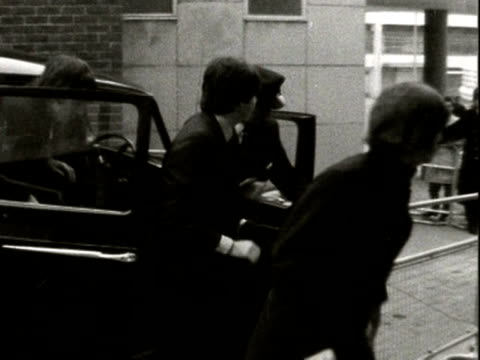the beatles arrive at a theatre in plymouth; 1962 - the beatles bildbanksvideor och videomaterial från bakom kulisserna