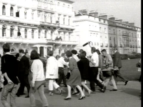 the beatles arrive in plymouth on their magical mystery tour 1967 - the beatles stock videos and b-roll footage